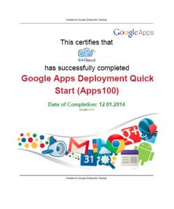 Certificaat Google 100 Deployement nieuw G4Cloud logo